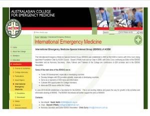 IEM website page ACEM